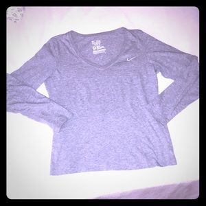 Nike Shirt Long Sleeve Gray T Shirt Top